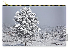 Carry-all Pouch featuring the photograph Winter Solitude by Diane Alexander