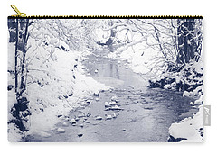Carry-all Pouch featuring the photograph Winter Stream by Liz Leyden