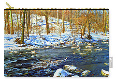 Winter Stream Southeastern Pennsylvania Poster Image Carry-all Pouch