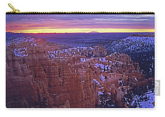 Carry-all Pouch featuring the photograph Winter Sunrise At Bryce Canyon by Susan Rovira