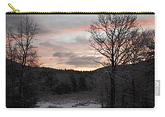 Carry-all Pouch featuring the photograph Winter Sunrise by Mim White
