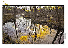 Carry-all Pouch featuring the photograph Winter Sunset At Williston Mill by Brian Wallace