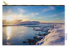 Winter Sunset In Iceland Carry-all Pouch