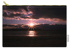 Carry-all Pouch featuring the photograph Winter Sunset by Karen Silvestri