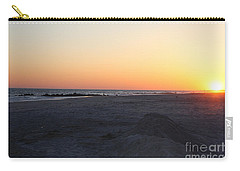 Winter Sunset On Long Beach Carry-all Pouch