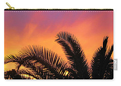 Winter Sunset Carry-all Pouch by Tammy Espino