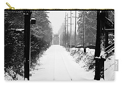 Carry-all Pouch featuring the photograph Winter Tracks by Aaron Berg