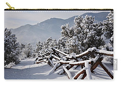 Winter Trail Beckons Carry-all Pouch by Diane Alexander