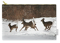 White Tailed Deer Winter Travel Carry-all Pouch
