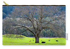 Winter Tree With Cows By The Umpqua River Carry-all Pouch