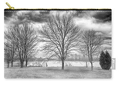 Carry-all Pouch featuring the photograph Winter Trees by Howard Salmon