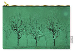 Winter Trees In The Mist Carry-all Pouch