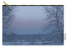 Winter Trees On West Michigan Farm At Sunrise Carry-all Pouch