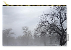 Carry-all Pouch featuring the photograph Winter Trees With Mist by Jeannie Rhode