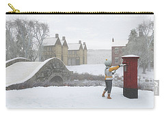Winter Village With Postbox Carry-all Pouch by Jayne Wilson