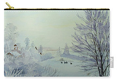 Winter Visitors Carry-all Pouch by Martin Howard