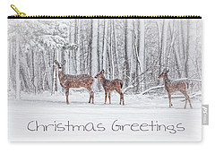 Winter Visits Card Carry-all Pouch by Karol Livote