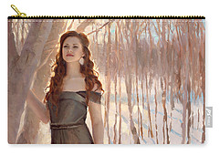 Winter Warmth - Figure In The Landscape Carry-all Pouch