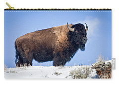 Carry-all Pouch featuring the photograph Winter Warrior by Jack Bell
