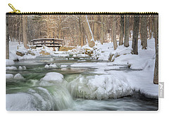 Carry-all Pouch featuring the photograph Winter Water by Bill Wakeley