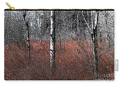 Carry-all Pouch featuring the photograph Winter Wetland I by Jani Freimann