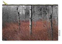 Carry-all Pouch featuring the photograph Winter Wetland by Jani Freimann