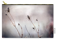 Carry-all Pouch featuring the photograph Winter Wild Flowers by Sennie Pierson
