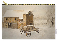 Carry-all Pouch featuring the painting Winter Wine by Alan Lakin