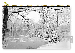 Winter Wonderland In Black And White Carry-all Pouch