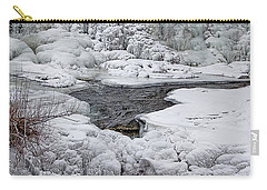 Carry-all Pouch featuring the photograph Vermillion Falls Winter Wonderland by Patti Deters