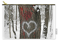 Winter Woods Romance Carry-all Pouch