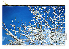 Carry-all Pouch featuring the painting Winter's Artistry by Barbara Jewell