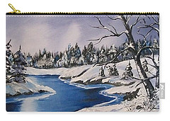Carry-all Pouch featuring the painting Winter's Blanket by Sharon Duguay