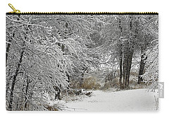 Carry-all Pouch featuring the photograph Winter's Kiss by Don Schwartz