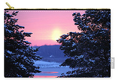 Carry-all Pouch featuring the photograph Winter's Sunrise by Elizabeth Winter