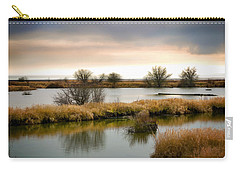Carry-all Pouch featuring the photograph Wintery Wetlands by Jordan Blackstone