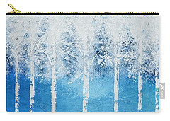 Carry-all Pouch featuring the painting Wintry Mix by Linda Bailey