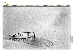 Wire Basket In Snow Carry-all Pouch