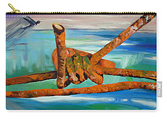 Carry-all Pouch featuring the painting Wire by Daniel Janda