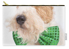 Wire Fox Terrier With Bowtie Carry-all Pouch