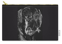 Wire Haired Dachshund Carry-all Pouch by Rachel Hames