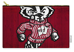 Wisconsin Badgers College Sports Team Retro Vintage Recycled License Plate Art Carry-all Pouch by Design Turnpike