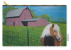 Carry-all Pouch featuring the painting Wisconsin Barn by Norm Starks
