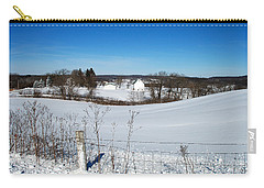 Wisconsin Countryside And A Fresh Layer Of White Carry-all Pouch