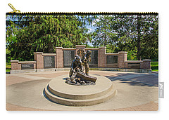 Carry-all Pouch featuring the photograph Wisconsin State Firefighters Memorial 1 by Susan  McMenamin