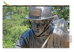 Carry-all Pouch featuring the photograph Wisconsin State Firefighters Memorial 3  by Susan  McMenamin