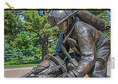 Carry-all Pouch featuring the photograph Wisconsin State Firefighters Memorial 4 by Susan  McMenamin