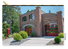 Carry-all Pouch featuring the photograph Wisconsin State Firefighters Memorial 6 by Susan  McMenamin
