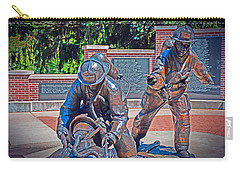 Carry-all Pouch featuring the photograph Wisconsin State Firefighters Memorial Park 2 by Susan  McMenamin