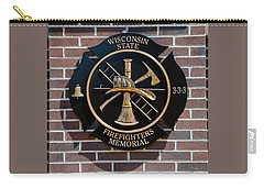 Carry-all Pouch featuring the photograph Wisconsin State Firefighters Memorial Park 5 by Susan  McMenamin